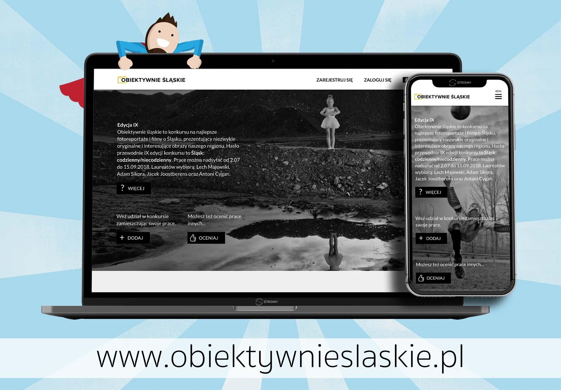 Obiektywnie Śląskie - konkurs fotograficzny - screen